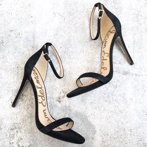 New Sam Edelman Ariella Suede Ankle Strap Heels